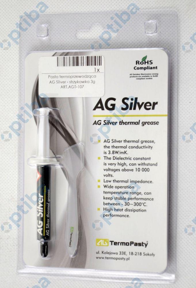 Pasta termoprzewodząca AG SILVER 3g w strzykawce