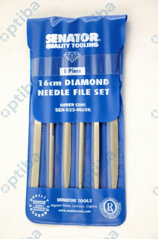 Pilnik diamentowy igiełkowy SEN0330600K 16cm 6szt.