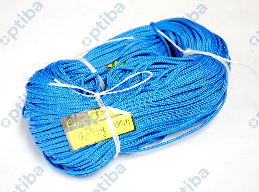 Sznurek polipropylenowy 3mm pleciony niebieski Ppf 200/3/16rd