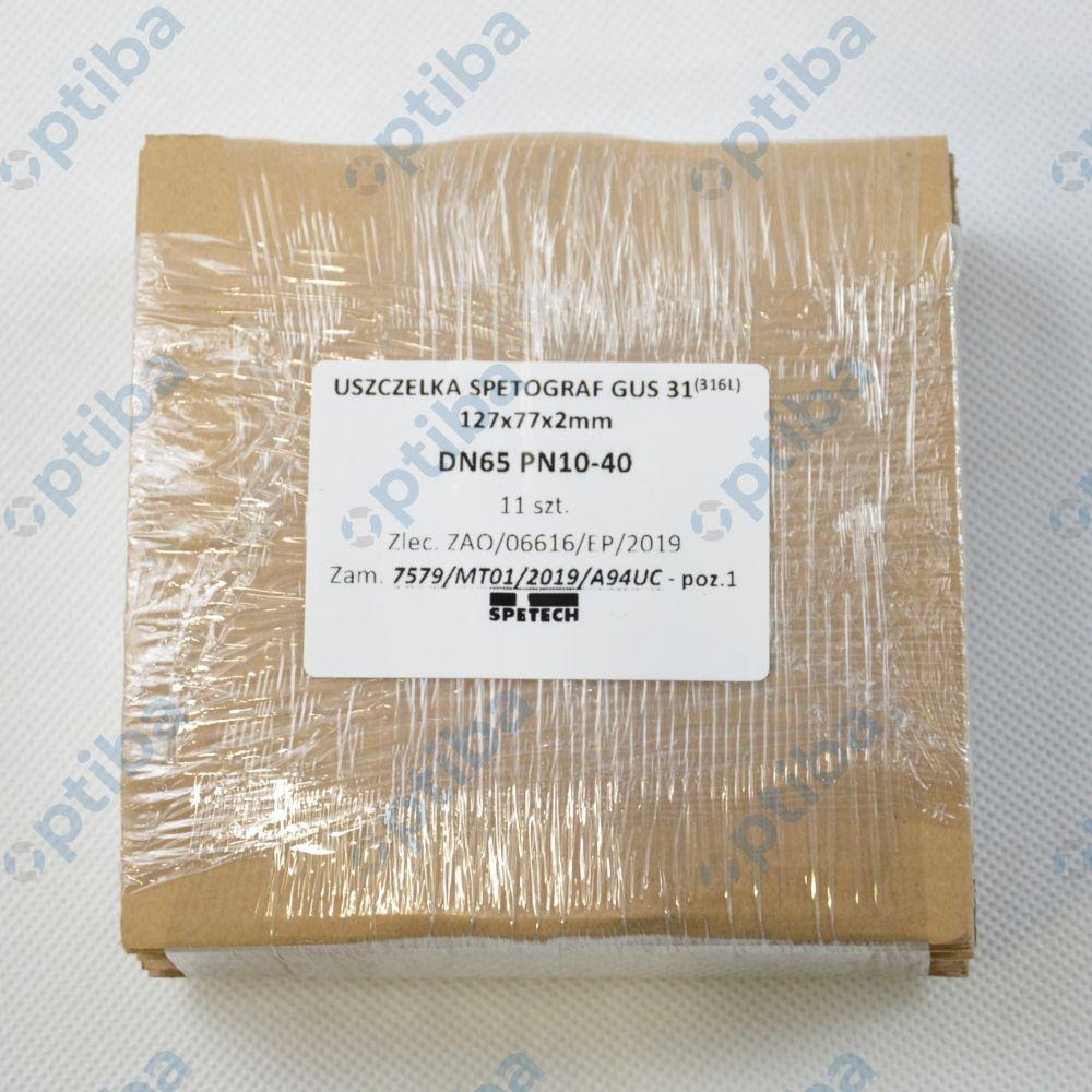Uszczelka 127x77x2 GUS 31 PN 1.0 MPa,2mm DN65 PN10-40