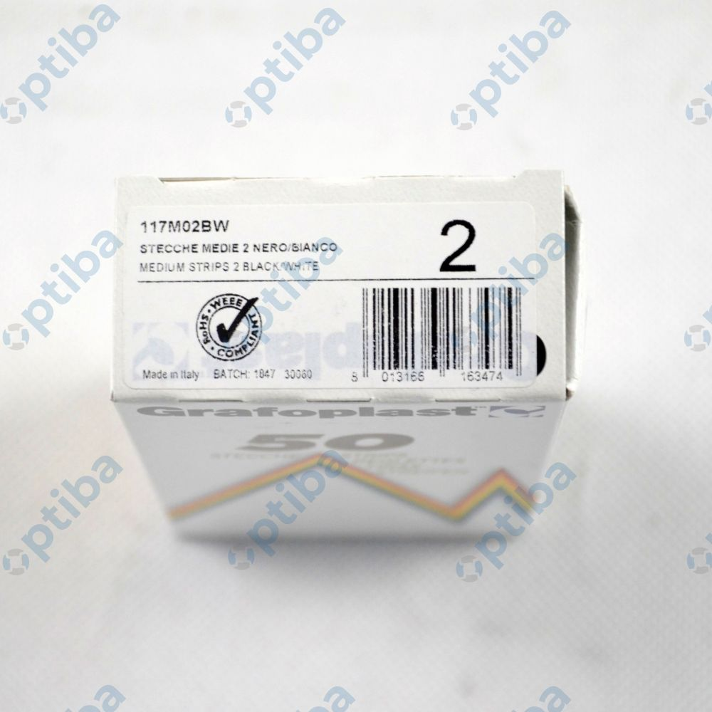 Pasek z 24 oznaczeniami GF-117M02BW-00050 117M02BW 2,3mm 1200szt.