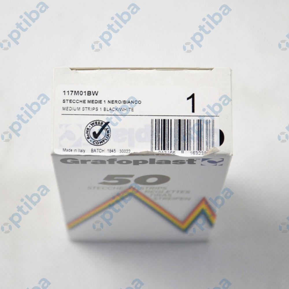 Pasek z 24 oznaczeniami GF-117M01BW-00050 117M01BW 2,3mm 1200szt.