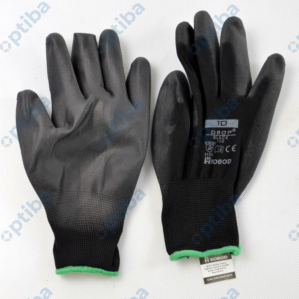 Rękawice powlekane DROP Black 100 r.10