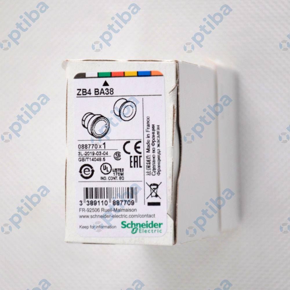 Główka przycisku LED 22mm zielona ZB4BA38