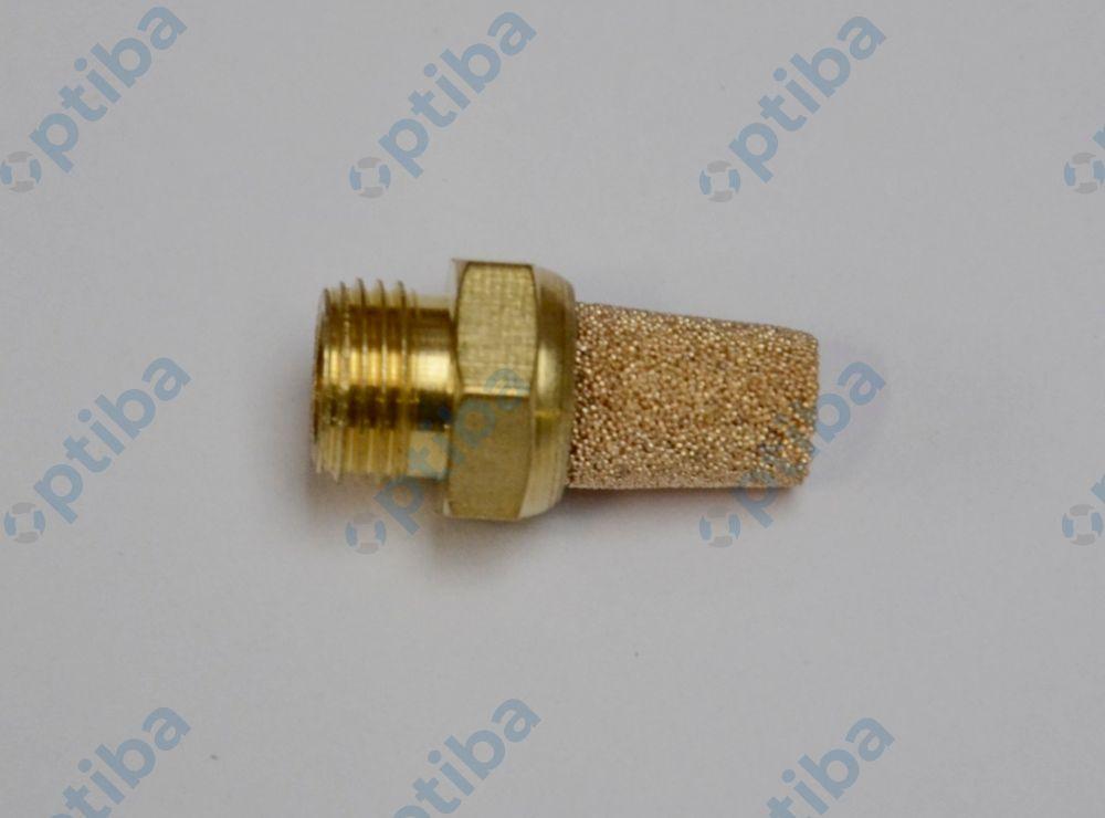Tłumik hałasu ze spieku brązu z gwintem mosiężnym G1/8 SD18MS AIRCOM