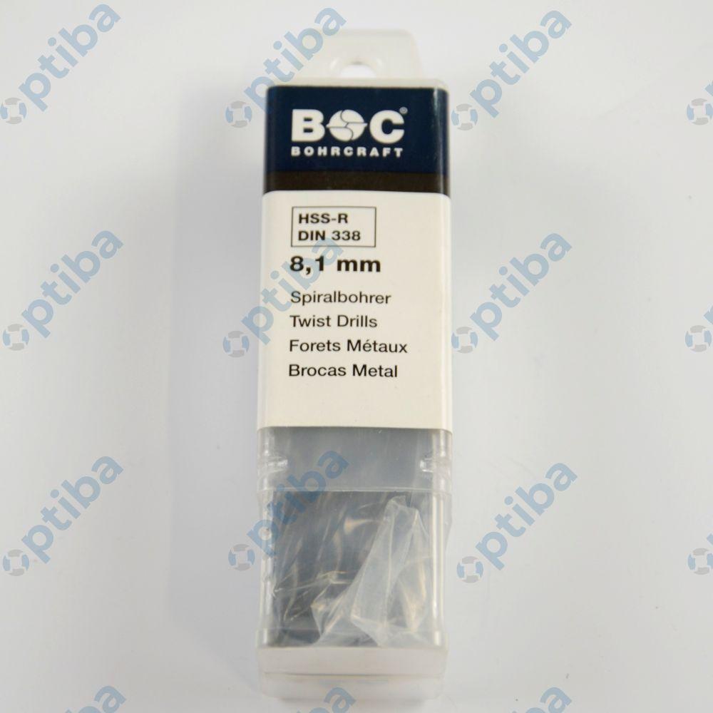 Wiertło NKWA FI 8,10mm DIN338-N 1100 01 00810