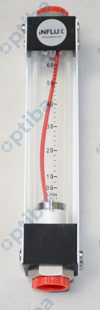 Rotametr FLUXLINE 0,6-6L/MIN H2O 1/2' BSP SS INFLUX