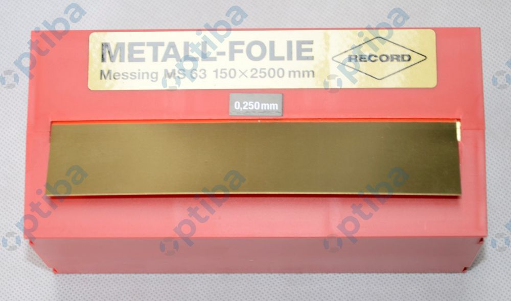 Folia metalowa MS 63 150x2500x0.250mm EDE 8244960250