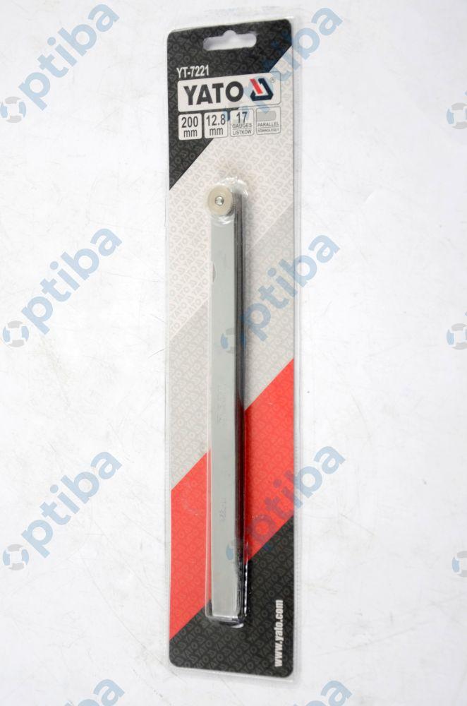 Szczelinomierz YT-7221 200mm 17 listków 0.02-1mm