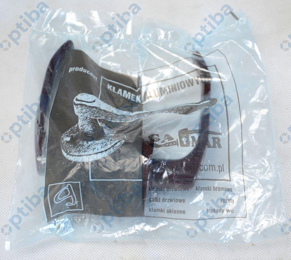 Klamka drzwiowa LENOX brązowa z/t okrągła KL-GA-501