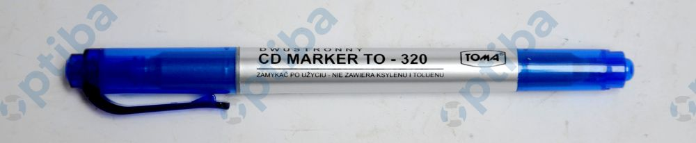 Marker do CD TO320-1 dwustronny niebieski