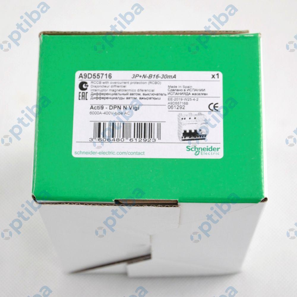 Wyłącznik A9D55716 DPNNVigi-B16-30-AC B 16A 3N-biegunowy 30 mA typ AC