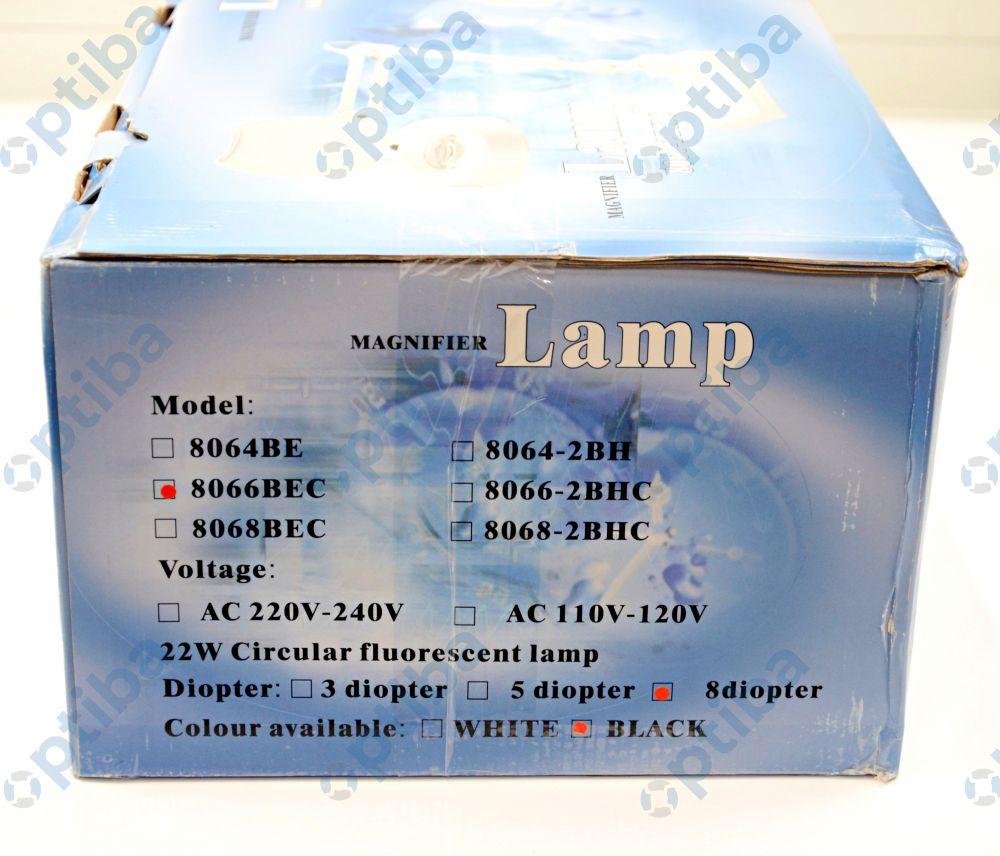 Lampa biurkowa z lupą 8066-2BHC 8D 22W 127mm 312707