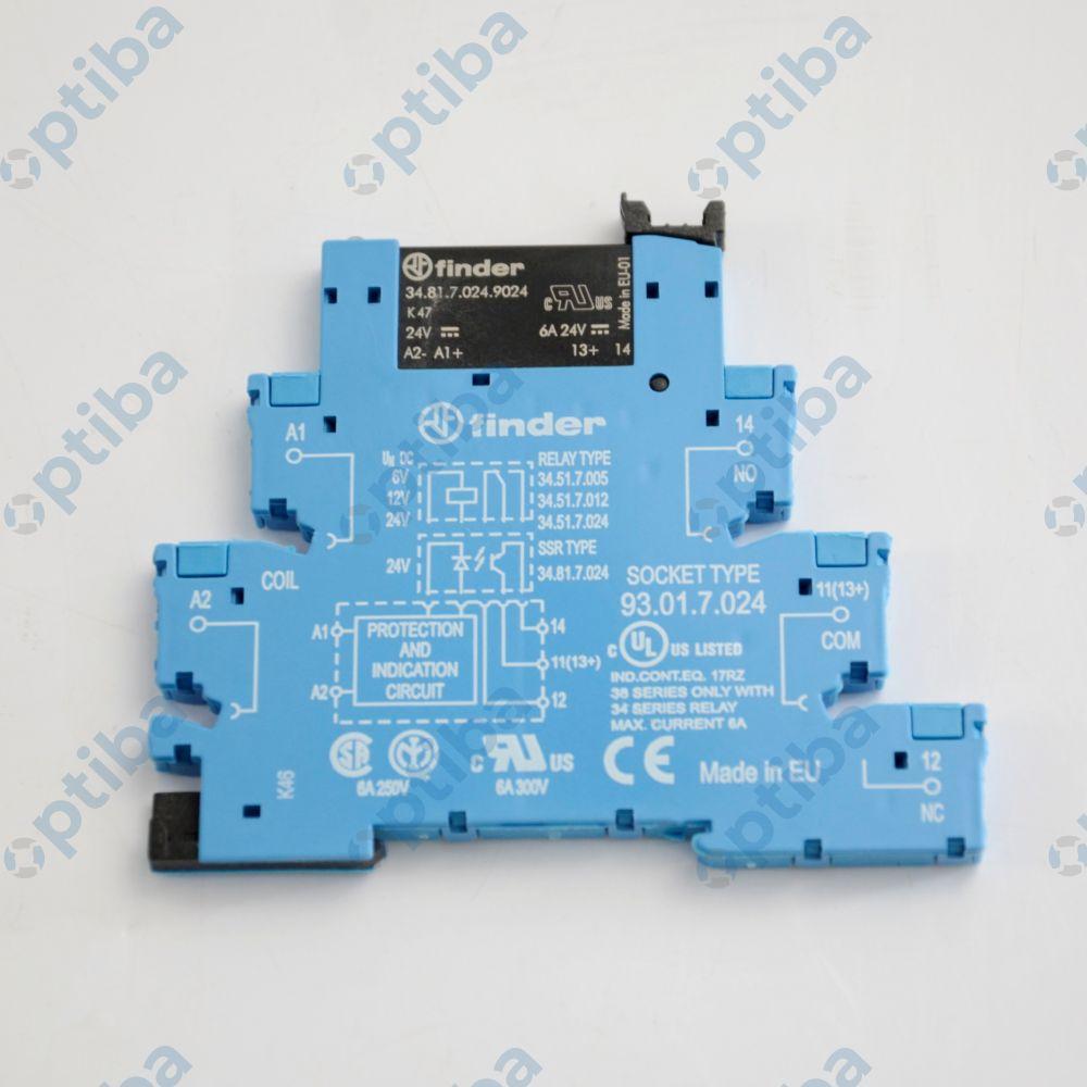 Moduł przekaźnikowy sprzęgający 1Z 1,5-24V DC/2A  38.81.7.024.9024