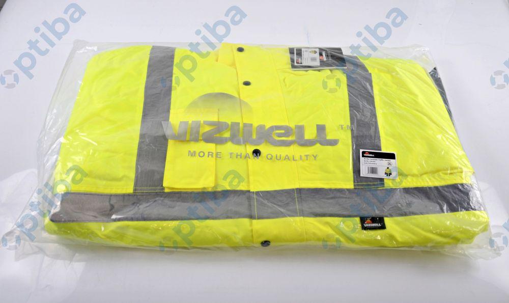 Kurtka ostrzegawcza Vizwell VWJK05YN r.XXL żółta VWJK05YN/XXL