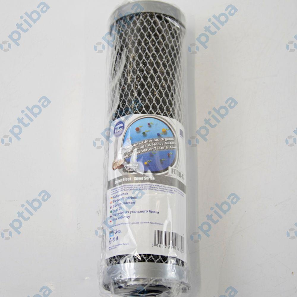 Wkład filtracyjny do wody seria Silver węgiel kokosowy przeznaczony do korpusów 10' 5 mic. FCCBL-S AQUAFILTER