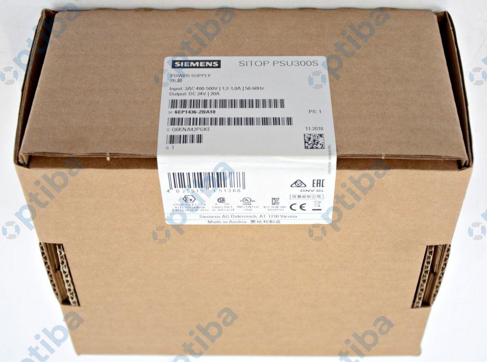 Zasilacz impulsowy na szynę DIN SITOP PSU300S 24VDC 20A 6EP1436-2BA10 SIEMENS