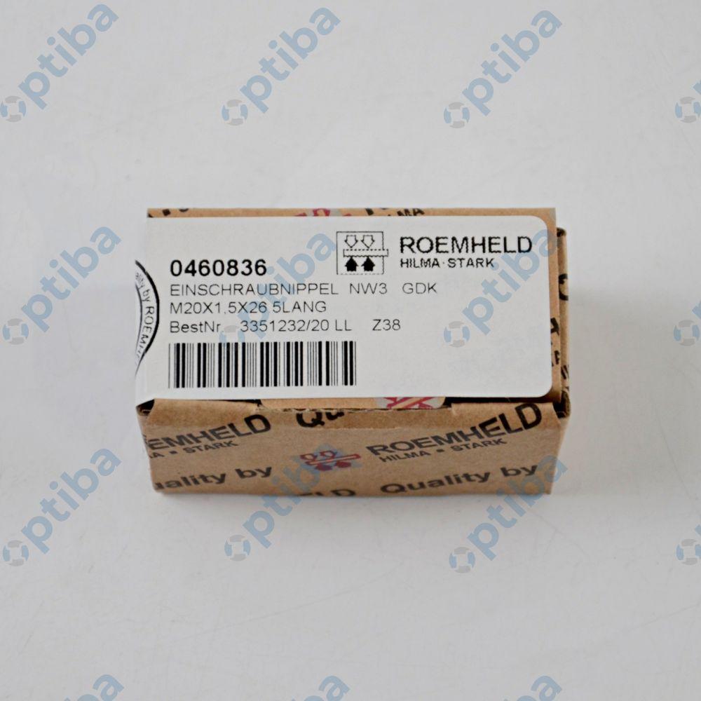 Złączka 0460-836 gwintowana obudowa M20x1.5mm maks. natężenie prezpływu 8l/min ROEMHELD