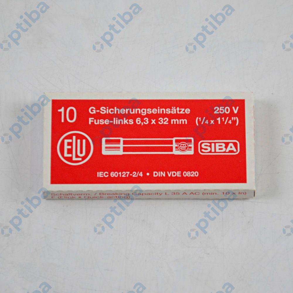 Bezpiecznik topikowy szklany 250V AC fi 6.3x32mm 0,8A szybki WTA-F 189000.0.800 SIBA