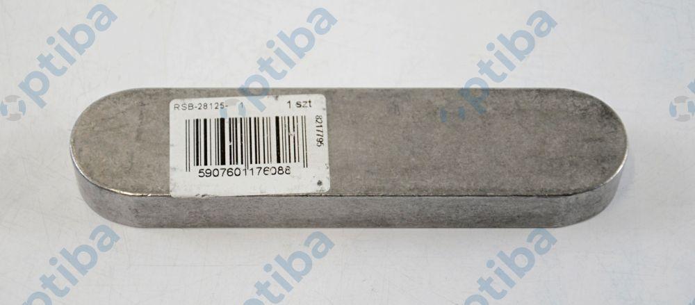 Wpust pryzmatyczny 28x16x125 DIN6885