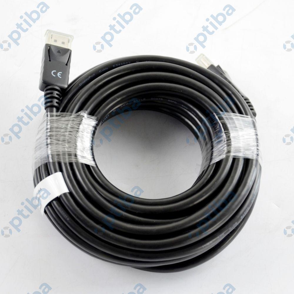 Kabel połączeniowy DisplayPort 1.1a z blokadą 10m AK-340100-100-S czarny ASSMANN