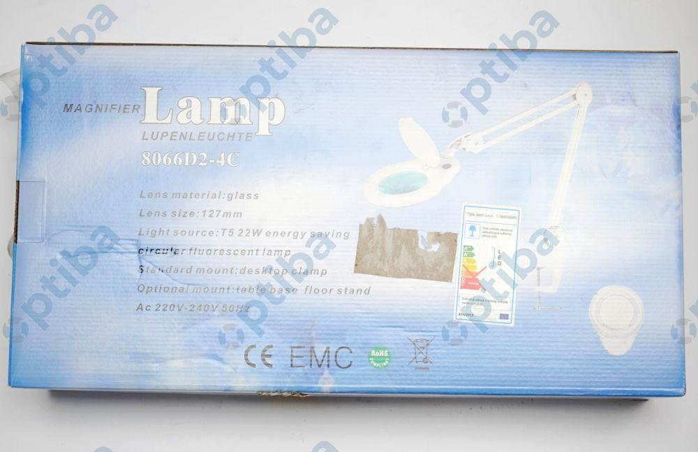 Lampa LAM-005 z lupą 5D 90 LED fi 127mm przykręcana do blatu
