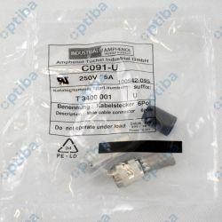 Złącze T 3400 001 M16 męskie, na przewód, IP40, złącze wtyk, 300V, PIN 6