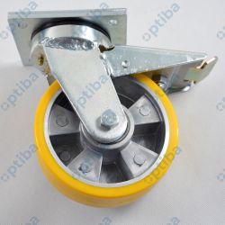 Koło aluminiowo-poliuretanowe A45PDH d=100 z obudową spawaną skrętną z hamulcem 400kg