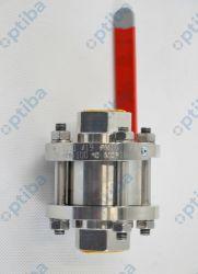 Zawór kulowy ZK-G DN20 PN16 gat. 1.4541 stal kwasoodporna PTFE