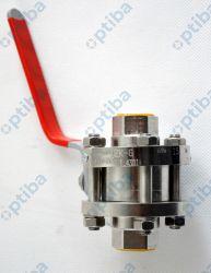 Zawór kulowy ZK-G DN15 PN16 gat. 1.4301 stal kwasoodporna PTFE