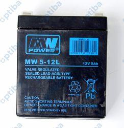 Akumulator MW 5-12 5Ah 12V konektory 6.35mm