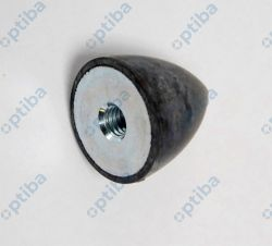 Wibroizolator paraboliczny z gumy 25150.0532 HALDER