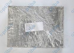 Siatka pleciona AISI 304 oczko 0.6mm fi drutu 0.25mm szer. 189.5mm dł. 142mm obrzeża sita zgrzewane