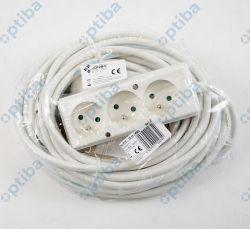 Przedłużacz 3-gniazdowy PS-370 z/u 16A 10m OMY 3x1,5 biały
