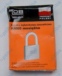 Kłódka mosiężna zasuwkowa KM 60 KD-LE-009