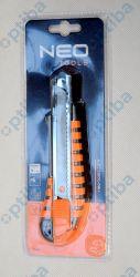 Nóż z łamanym ostrzem 63-011 18mm metalowy korpus
