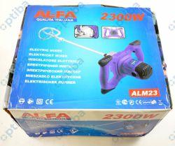 Mieszadło elektryczne ALM23 2300W 230V-50Hz gwint M14 maks. fi mieszalnika 120mm, 0-800rpm, 6-stopniowa regulacja prędkości