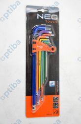 Zestaw 9 kluczy imbusowych 1,5-10mm 09-512