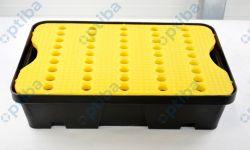 Wanienka wychwytowa z kratownicą 600x400x155mm poj.20l kolor żółty/czarny