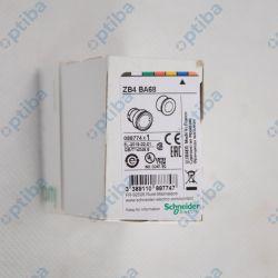 Główka przycisku LED 22mm niebieska ZB4BA68