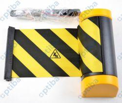 Kaseta ścienna Tensator Plus z taśmą 150mm L=2,3m żółto-czarna z nadrukiem