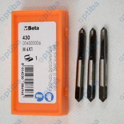 Zestaw 3 gwintowników ręcznych M6x1 430/6