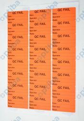 Zestaw 24 etykiet czerwonych 63,5x33,9mm z nadrukiem