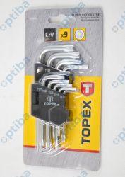 Zestaw kluczy TS10-TS50 35D950 imbusowych, torx, 5-kątnych, krótkich, z otworem