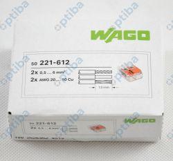 Szybkozłączka instalacyjna 2x0,5-6mm2 transparentna/pomarańczowa 221-612 50szt