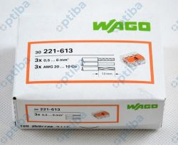 Szybkozłączka instalacyjna 3x0,5-6mm2 transparentna/pomarańczowa 221-613 30szt
