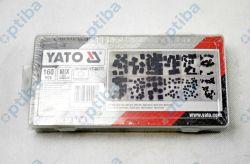 Zestaw 160 śrub imbusowych bez łba YT-06777