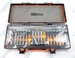 Zestaw 38 końcówek wkrętakowych z pokrętłem przegubowym 867/C38 T39 w pudełku metalowym 008670938