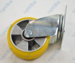 Koło aluminiowo-poliuretanpwe d=125 obudowa skrętna A22PW