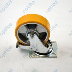 Zestaw kołowy skrętny aluminiowy fi 125 300kg poliuretan